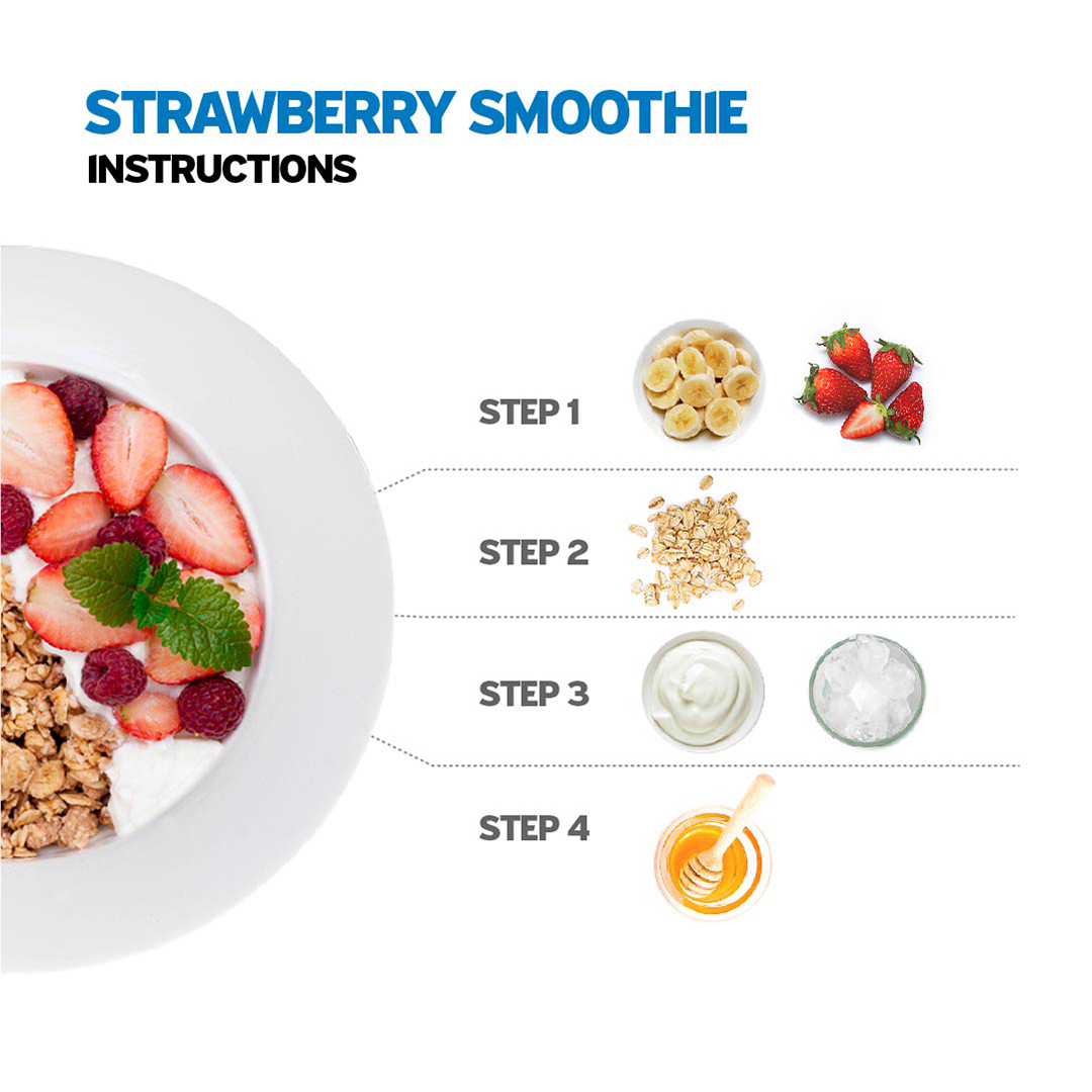 Strawberry Smoothie Instruction